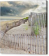 East Hampton Beach, Long Island, New Acrylic Print