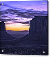 East Mitten And Merrick Butte Acrylic Print
