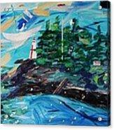 Campobello Lighthouse Abstract Acrylic Print