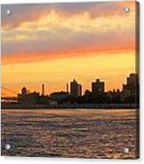 East River At Sunrise Acrylic Print