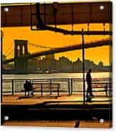 East River Sunset Acrylic Print