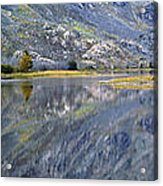 East Rosebud Lake Fall Panorama Acrylic Print by Roger Snyder