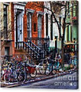 East Village Bicycles Acrylic Print