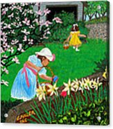 Easter At Grandma's Acrylic Print by Edward Fuller