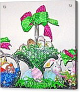 Easter Baskets In A Row  Acrylic Print