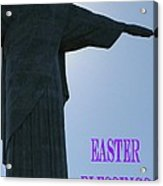 Easter Blessings Card Acrylic Print