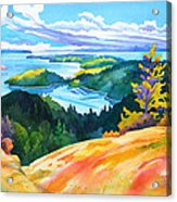 Easter Bluff View Acrylic Print