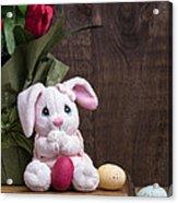 Easter Bunny Card Acrylic Print