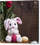 Easter Bunny Acrylic Print by Edward Fielding