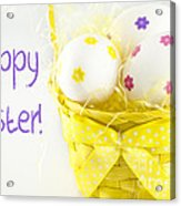 Easter Eggs In Basket Acrylic Print