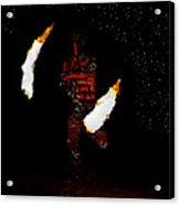 Easter Island Fire Dance Acrylic Print