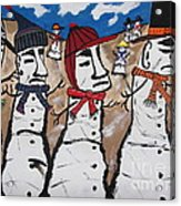 Easter Island Snow Men Acrylic Print