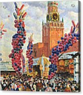 Easter Market At The Moscow Kremlin Acrylic Print