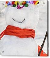 Easter Snowman Acrylic Print
