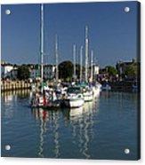 Eastern Side Moorings - Ryde Harbour Acrylic Print