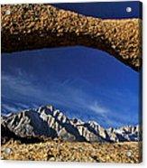 Eastern Sierra Nevada Mountains Lathe Arch Acrylic Print