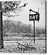Eat Here Acrylic Print