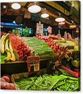 Eat Your Fruits And Vegetables Acrylic Print