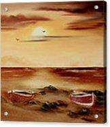 Ebb Tide And Stranded Acrylic Print by Cynthia Adams
