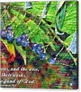 Ecclesiastes 9 1 Acrylic Print