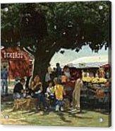 Eckert's Market Under Big Tree Acrylic Print