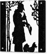 Eckstein Man And Dog Acrylic Print