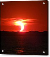 Eclipse Over Marion Reservoir 2 Acrylic Print