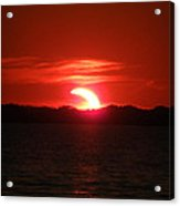 Eclipse Over Marion Reservoir 3 Acrylic Print
