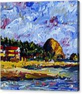 Ecola Creek Estuary Acrylic Print