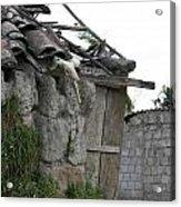 Ecuadorian House Falling Into Ruin Acrylic Print