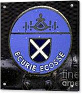 Ecurie Ecosse Badge Acrylic Print