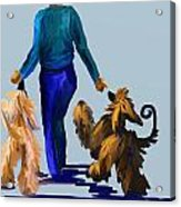 Eddie Dancing With Dogs Acrylic Print