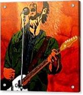 Eddie Vedder-eddie Live Acrylic Print by Bill Manson