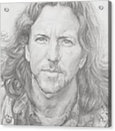 Eddie Vedder Acrylic Print by Olivia Schiermeyer