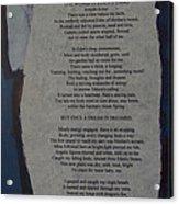Eden's Womb Poem Collage Acrylic Print