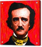 Edgar Allan Poe - Painterly - Square Acrylic Print