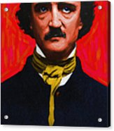 Edgar Allan Poe - Painterly Acrylic Print by Wingsdomain Art and Photography