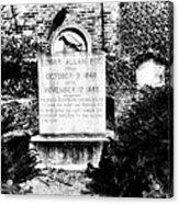 Edgar Allen Poe Grave Site Baltimore Acrylic Print