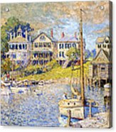 Edgartown  Martha's Vineyard Acrylic Print by Colin Campbell Cooper