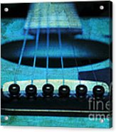 Edgy Abstract Eclectic Guitar 16 Acrylic Print by Andee Design