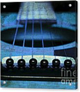 Edgy Abstract Eclectic Guitar 17 Acrylic Print