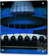 Edgy Abstract Eclectic Guitar 18 Acrylic Print by Andee Design