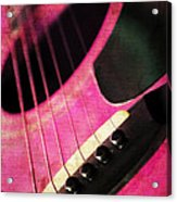 Edgy Pink Guitar  Acrylic Print