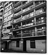edificio general norambuena mutualidad de carabineros Santiago Chile Acrylic Print