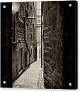 Edinburgh Alley Sepia Acrylic Print