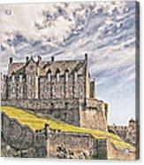 Edinburgh Castle Painting Acrylic Print