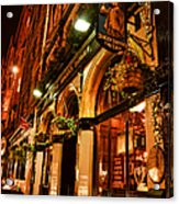 Edinburgh Pub At Night Acrylic Print