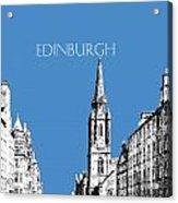 Edinburgh Skyline The Royal Mile - Slate Acrylic Print