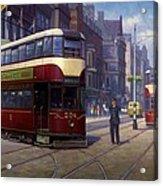 Edinburgh Tram 1953. Acrylic Print by Mike  Jeffries