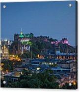 Edinburgh Twilight Acrylic Print